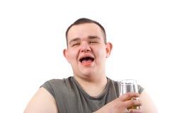 Bebedor de la cerveza Foto de archivo libre de regalías