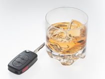 Bebendo e conduzindo o conceito Imagem de Stock Royalty Free