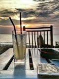 Bebendo, relaxe o tempo Fotografia de Stock Royalty Free