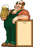 Beber da cerveja Foto de Stock Royalty Free