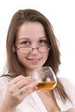Beber da mulher Imagens de Stock