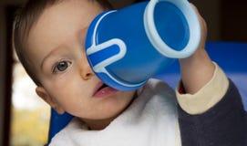 Beber do bebê Imagens de Stock