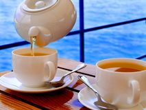 Beber do chá Imagem de Stock