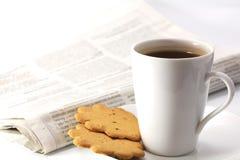 Beber do chá da manhã Imagens de Stock