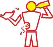 Beber do homem Ilustração Stock