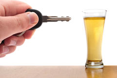 Beber e conduzir Imagens de Stock Royalty Free