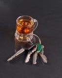 Beber e conduzir Foto de Stock Royalty Free