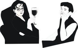 Beber e falar ilustração do vetor