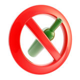 Beber não é permitido o sinal proibido Imagem de Stock Royalty Free