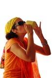 Beber sedento da mulher Imagem de Stock Royalty Free