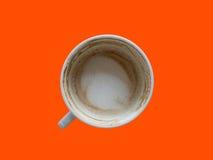 Bebió la taza de café en la tabla fotografía de archivo libre de regalías