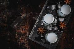 Bebida árabe Raki del alcohol Imagen de archivo