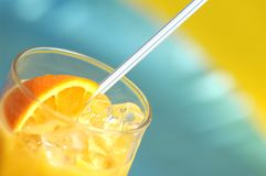 Bebida alaranjada Imagem de Stock Royalty Free