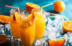 Bebida alaranjada foto de stock