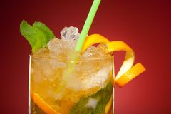 Bebida alaranjada de refrescamento Imagem de Stock