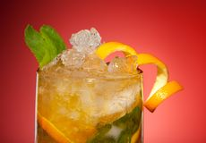 Bebida alaranjada fresca Fotografia de Stock