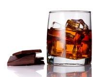 Bebida alcoólica com gelo Imagem de Stock