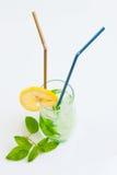 Bebida alta com hortelã e gelo Fotografia de Stock