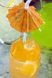 Bebida anaranjada Imagen de archivo libre de regalías