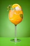 Bebida anaranjada de restauración del verano Fotos de archivo libres de regalías