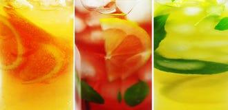 Bebida anaranjada del cóctel del sacador de la fruta con la naranja Fotos de archivo