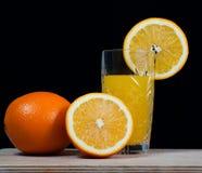 Bebida anaranjada del zumo de fruta, soda, Imagen de archivo libre de regalías