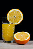 Bebida anaranjada del zumo de fruta, soda, Imagenes de archivo