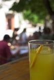 Bebida anaranjada fresca Foto de archivo libre de regalías