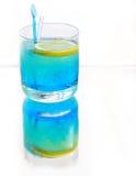 Bebida azul imagens de stock
