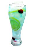 Bebida azul del coctel de curaçao del alcohol con el limón Imagen de archivo libre de regalías