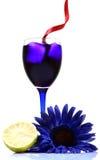Bebida azul del partido Foto de archivo libre de regalías
