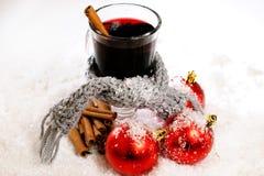 Bebida caliente de la Navidad Foto de archivo libre de regalías