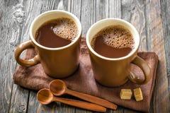 Bebida caliente del cacao Foto de archivo libre de regalías