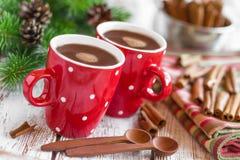 Bebida caliente del cacao Fotos de archivo