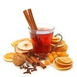 Bebida caliente del invierno con las especias Foto de archivo libre de regalías