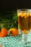 Bebida caliente del invierno con las frutas verticales Fotos de archivo libres de regalías