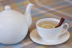 Bebida caliente del invierno - Ginger Tea Foto de archivo