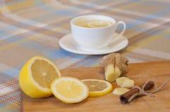 Bebida caliente del invierno - Ginger Tea Imágenes de archivo libres de regalías