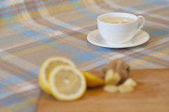 Bebida caliente del invierno - Ginger Tea Fotos de archivo