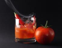 Bebida caliente helada del tomate imagen de archivo libre de regalías