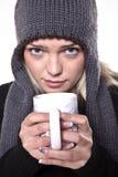 Bebida caliente para el frío del invierno imagenes de archivo