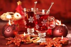 Bebida caliente para el invierno y la Navidad fotografía de archivo libre de regalías
