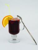 Bebida caliente reflexionada sobre del vino Foto de archivo
