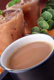 Bebida caliente y fría Imagen de archivo libre de regalías