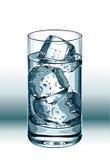 Bebida con hielo Foto de archivo libre de regalías