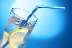 Bebida con hielo y el limón Fotos de archivo libres de regalías