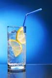 Bebida con hielo y el limón Fotografía de archivo libre de regalías