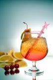 Bebida con la paja Imagenes de archivo