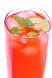 Bebida cor-de-rosa gelada da hortelã Foto de Stock