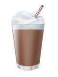 Bebida da agitação de leite do chocolate Imagem de Stock